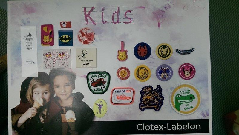 Clotex Etiketten Stoffmesse München