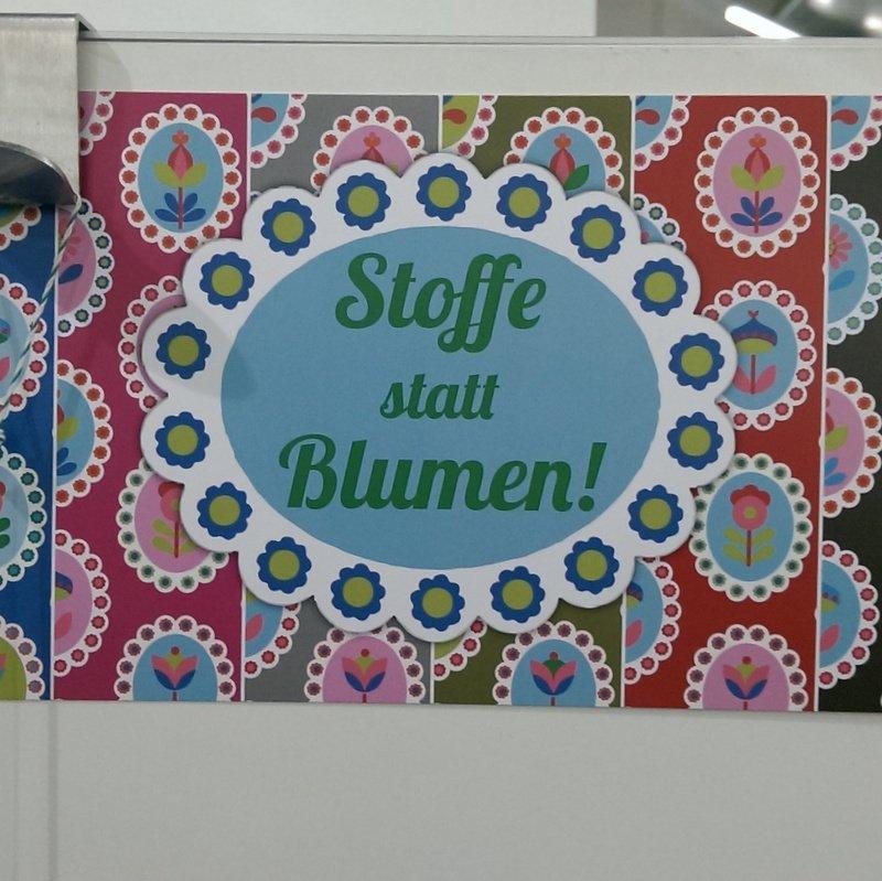 Stoffe statt Blumen, Stoffmesse München