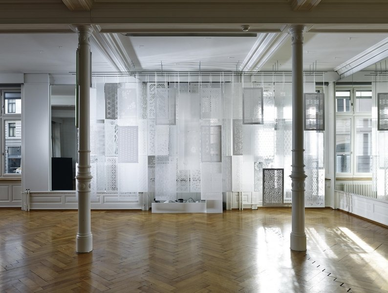 Rauminstallation der Hochschule Luzern Design & Kunst Foto Urs Bigler 2014