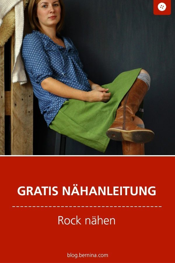 Kostenlose Nähanleitung für einen Rock für Frauen #rock #nähen #kleidung #freebie #freebook #kostenlos #bernina #nähanleitung #diy #tutorial