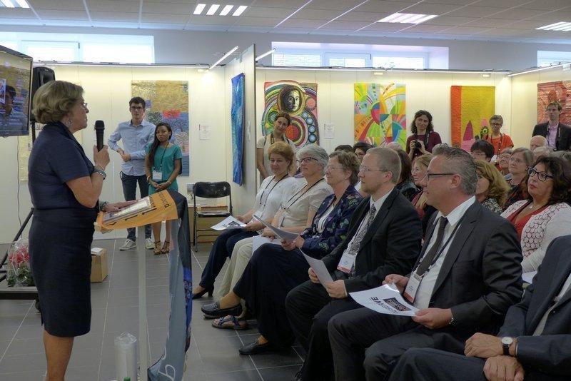 Preisverleihung des Internationalen Wettbewerbs des Europäischen Patchwork Treffens 'Imagination - Stell dir vor ...'
