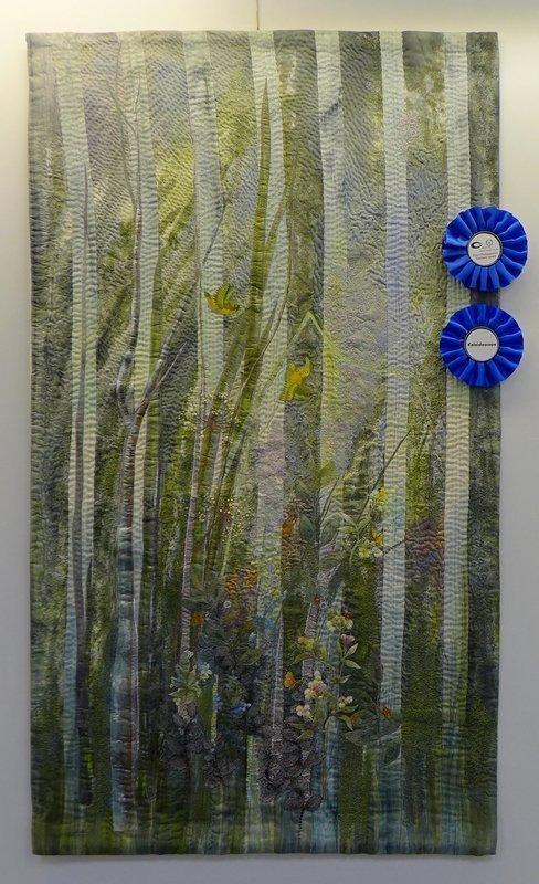 Ina Gorgeta Statescu (F): Entre reve et réalité, Gewinner zweier Preise beim Internationalen Wettbewerb des Europäischen Patchwork Treffens 'Imagination - Stell dir vor ...'