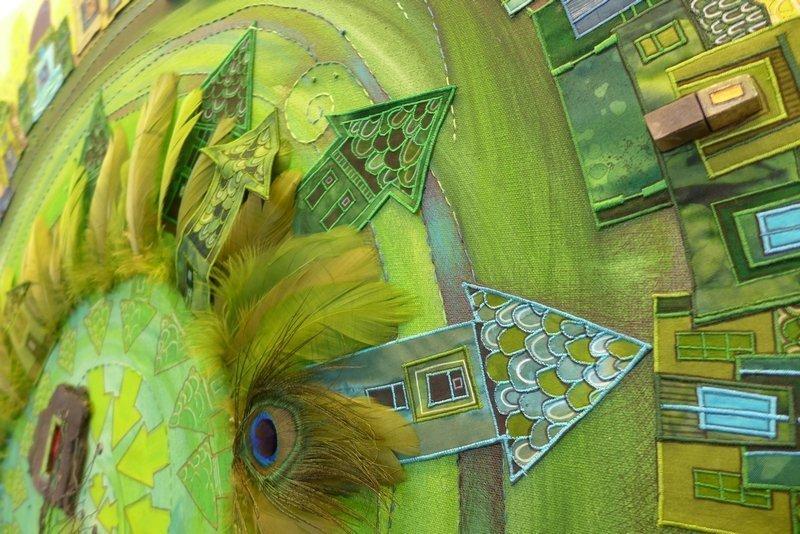 Olivia Uffer (CH) / Véra Borsky (CZ): Vertigineux, Detail Ausstellung 'Von Haus zu Haus'