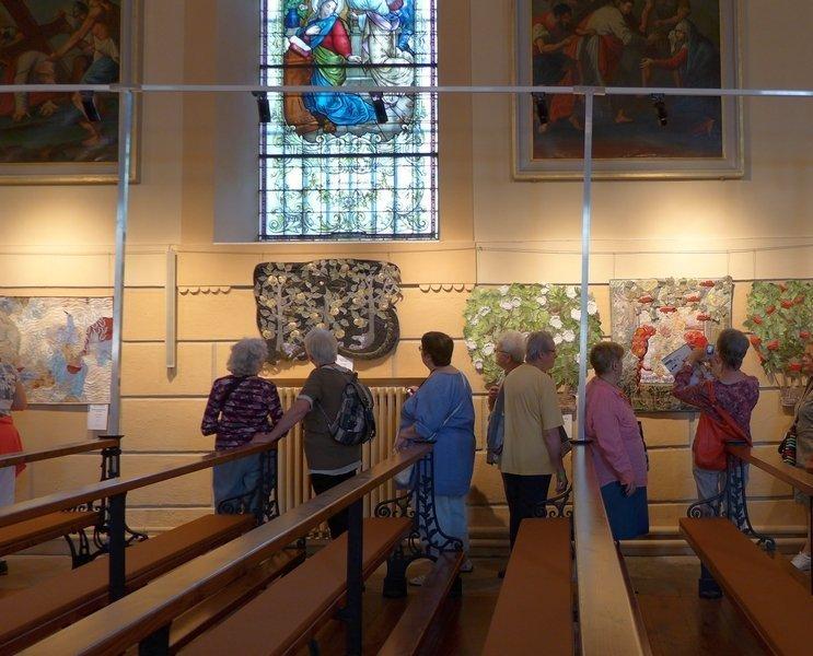Blick in die Ausstellung von Irina Fomina (Ukraine) 'Arbor Mundi'
