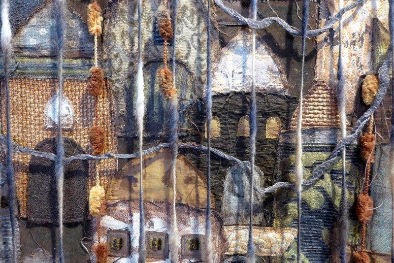 Catherine Bihl (F): Ville, la nuit, Detail Ausstellung 'Anderswo, immer'