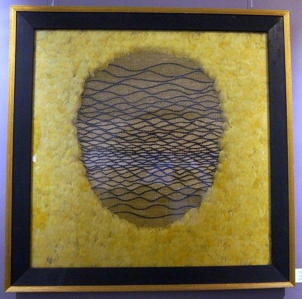 Das goldene Ei Federwebtechnik 95 x 95 cm