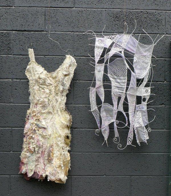 Sylvie Ladame (F): La Robe, 2011 (li), Sublimation, 2014 (re)