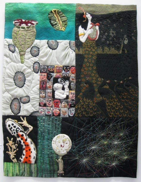 Adelheid Gubser: Collage Salamander, 2014 Foto: Gudrun Heinz