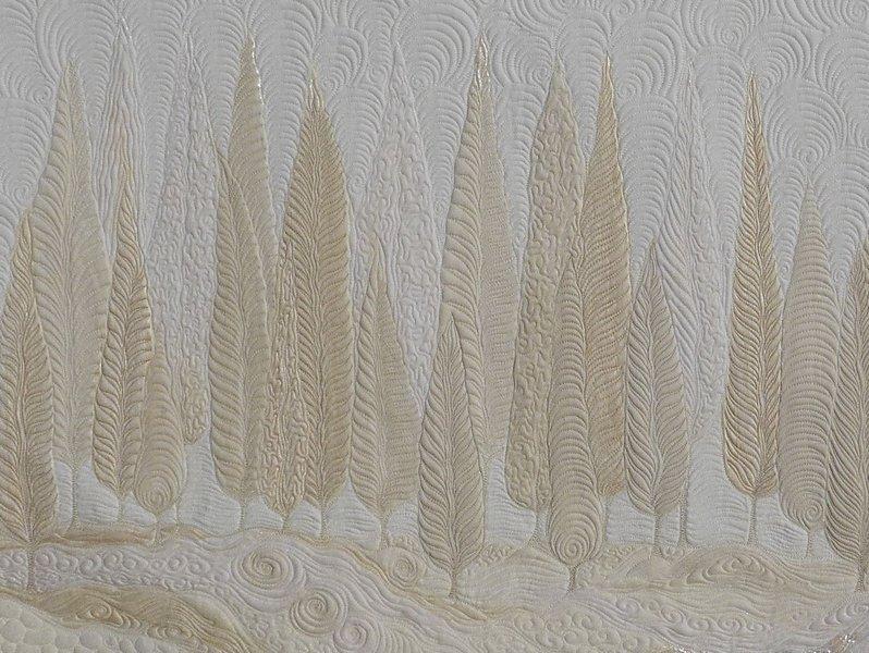 Jacqueline Heinz: Bäume, Detail Foto: Quilt Et Textilkunst