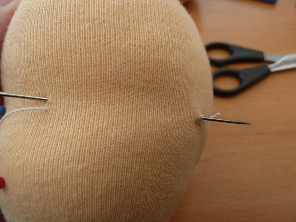 Nähanleitung Waldorfpuppe – der Kopf