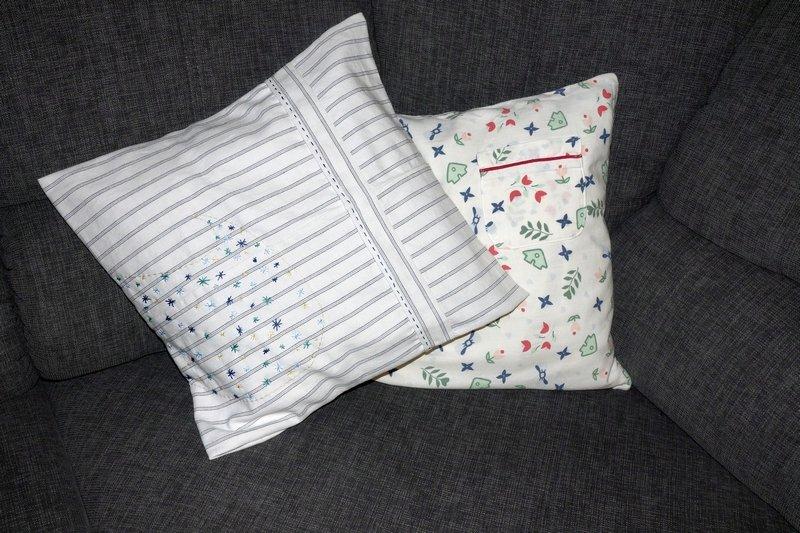 Gudrun Heinz: Kissenhüllen Workshop 'Pyjama küsst Couch' Foto: Dr. Wolfgang Heinz