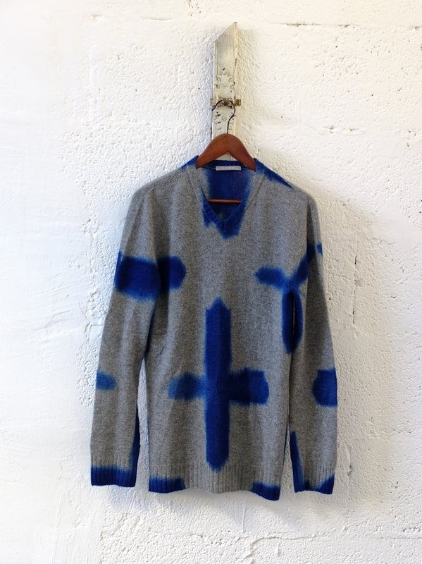 Hiroyuki Murase: Suzusan Sweater Tesuji Shibori, 100 % Kaschmir, M Foto: Hiroyuki Murase