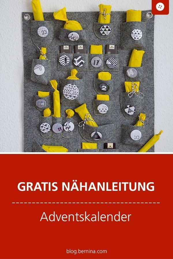 Kostenlose Nähanleitung für ein Weihnachtsutensilo / Adventskalender #weihnachten #advent #kalender #adventskalender #freebie #nähen #nähanleitung #diy #tutorial #kinder #winter #bernina