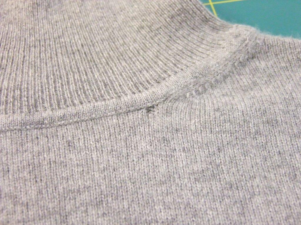 Rollkragen-Pullover upstyling