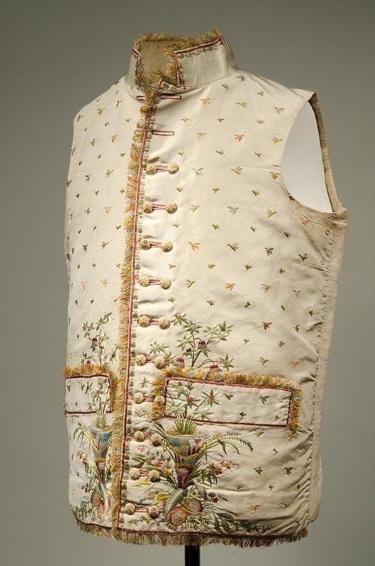 Herrengilet aus Seide Deutschland, um 1790 -1800 © Bayerisches Nationalmuseum