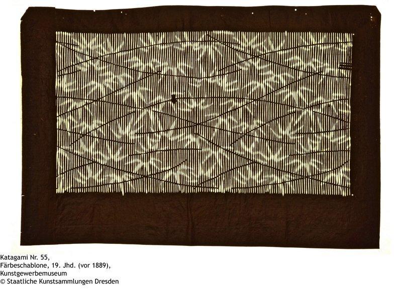 Katagami Nr. 55 Färbeschablone, 19. Jhd. (vor 1889) Kunstgewerbemuseum © Staatliche Kunstsammlungen Dresden