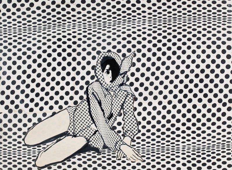 Antonio Lopez Joanne Landis, Carnegie Hall Studio, 1967, veröffentlicht in The New York Times Magazine Tuschfeder und Collage 61 x 48 cm © Courtesy of Estate of Antonio Lopez and Juan Ramos and Galerie Bartsch & Chariau