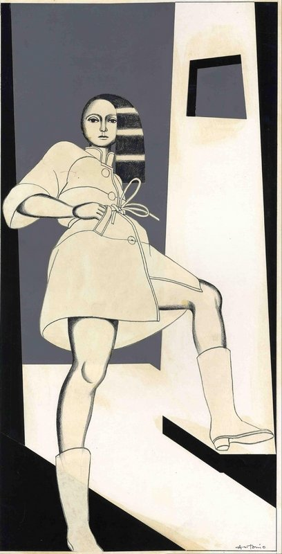 Antonio Lopez Léger Series, 1963, veröffentlicht in The New York Times Magazine Mixed Media 69 x 27 cm © Courtesy of Estate of Antonio Lopez and Juan Ramos and Galerie Bartsch & Chariau