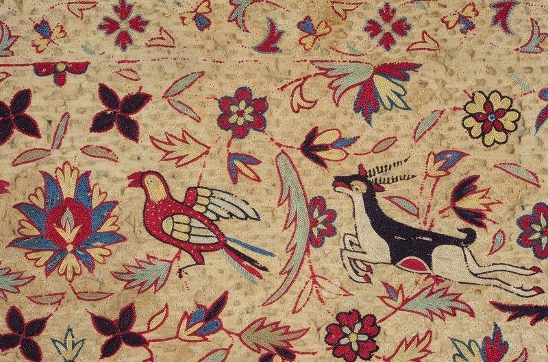 Quilt aus Indien Foto freundlicherweise vom Deutschen Textilmuseum zur Verfügung gestellt