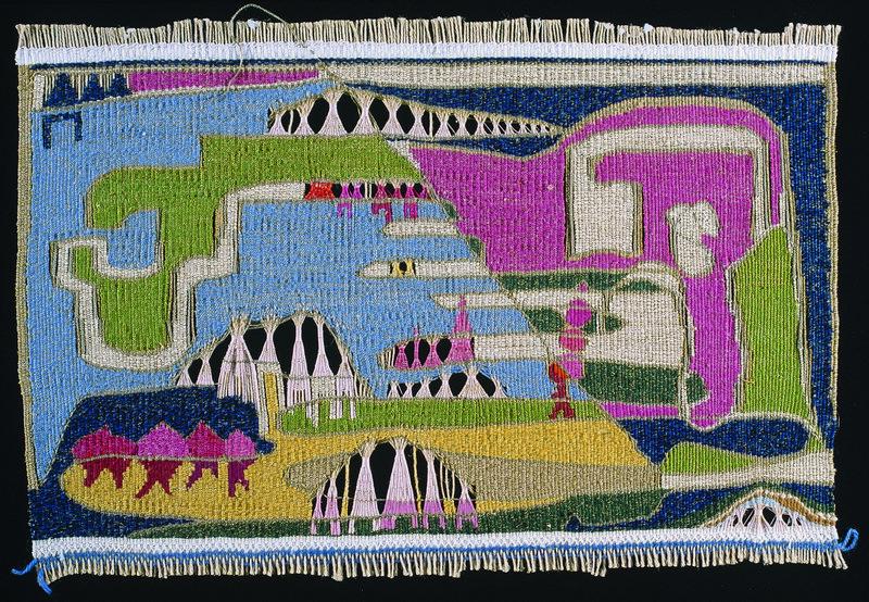Hedwig Klöckner-Triebe, ohne Titel, 1978 Wirkerei, durchbrochen, 33 x 49,5 cm Museum für Kunst und Kulturgeschichte Dortmund, Inv. Nr. 2006/81 Foto: Madeleine-Annette Albrecht