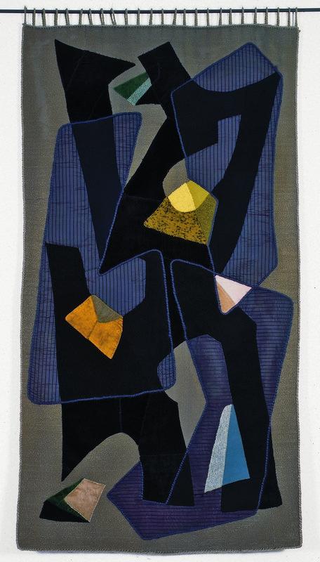 Inge und Fritz Vahle, Abstrakte Komposition, 1950/59 Applikationstechnik, 183 x 94 cm Museum für Kunst und Kulturgeschichte Dortmund, Inv. Nr. 2010/3 Foto: Madeleine-Annette Albrecht