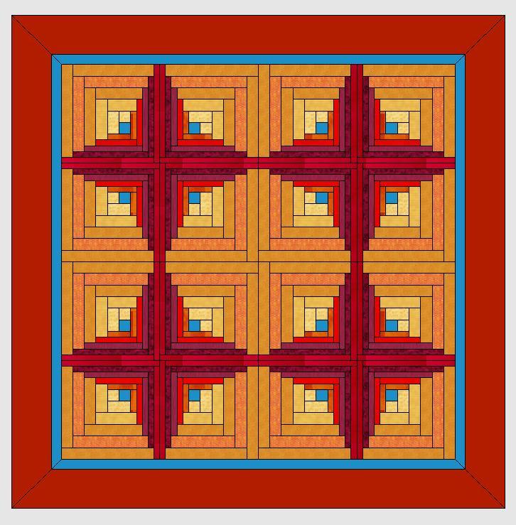Logcabinmuster im Quiltprogramm der V7 entwerfen » BERNINA Blog
