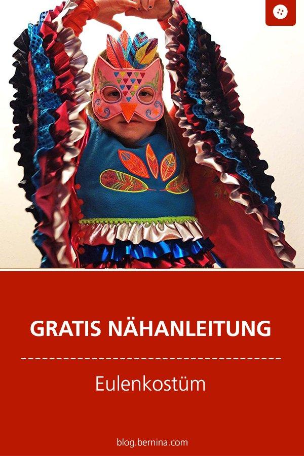 Kostenlose Nähanleitung: Eulenkostüm und Eulenmaske für Kinder