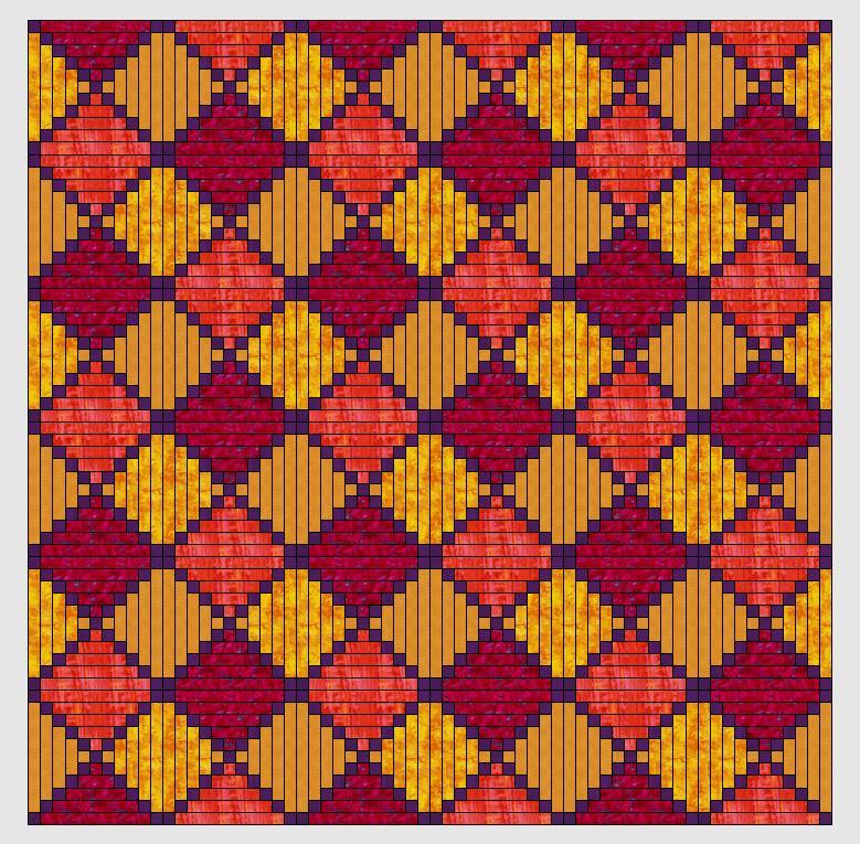 Nähanleitung Blockhausmustervariationen
