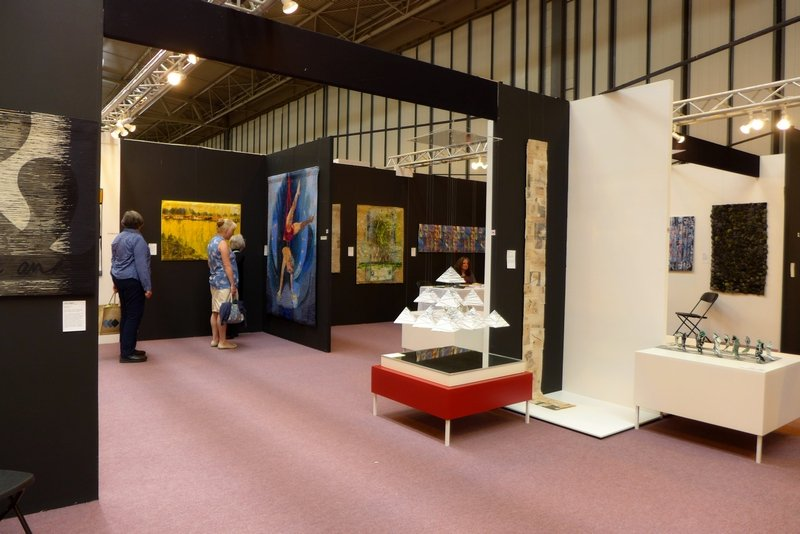 Blick in die Ausstellung 'European Art Quilt' beim Festival of Quilts 2014 Foto: Gudrun Heinz