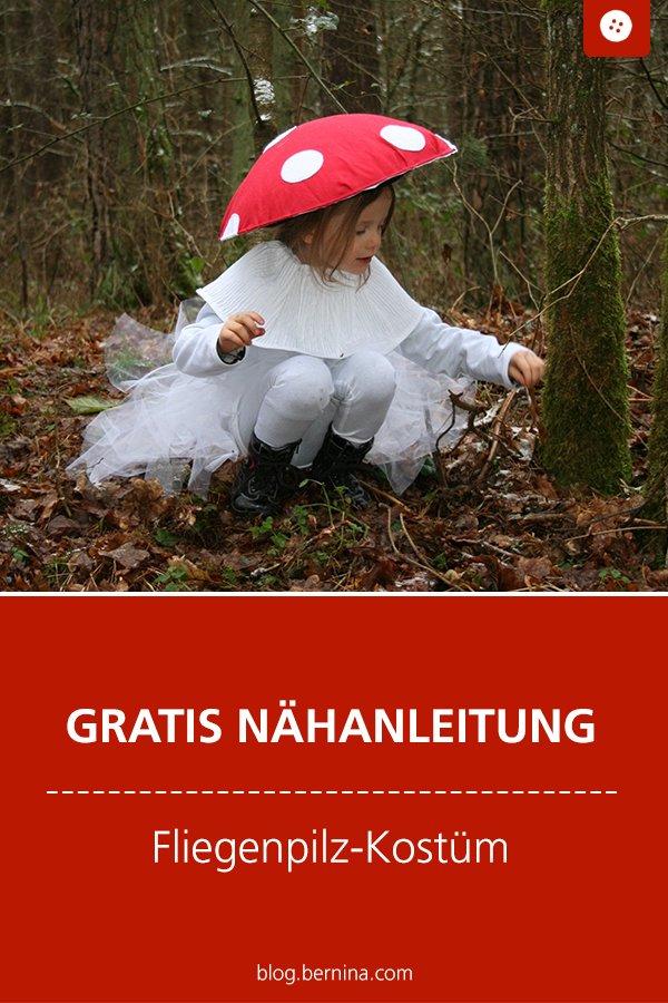 Kostenlose Nähanleitung: Fliegenpilz-Kostüm zum Fasching nähen