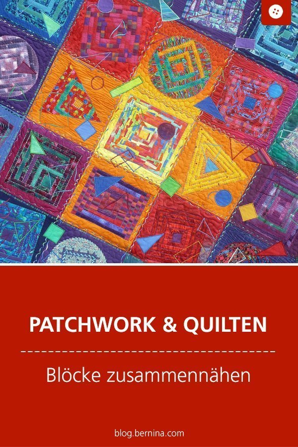 Tipps für Patchworker: Blockhaus-Muster nähen #tutorial #anleitung #patchwork #quilten #blockhaus  #bernina #nähanleitung #diy #tutorial #freebie #freebook #kostenlos