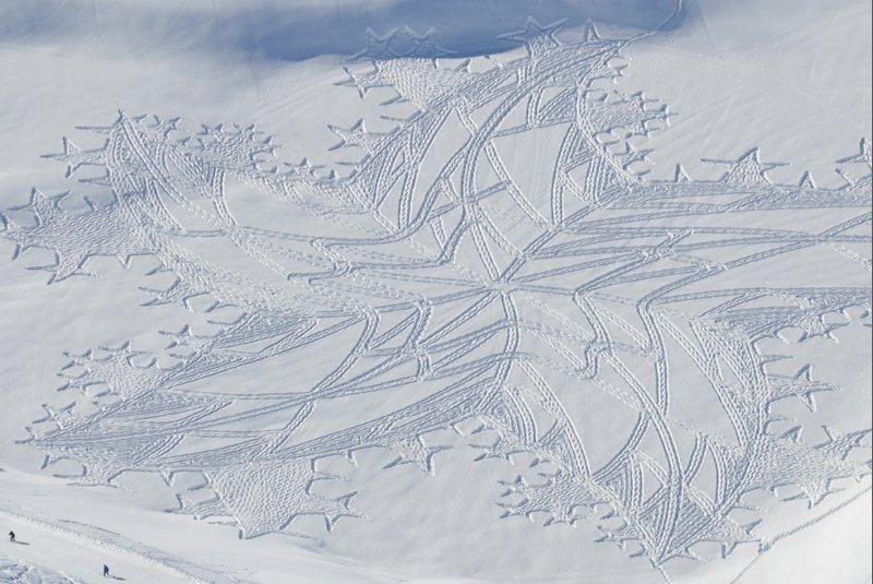 Simon Beck: Snow-Art