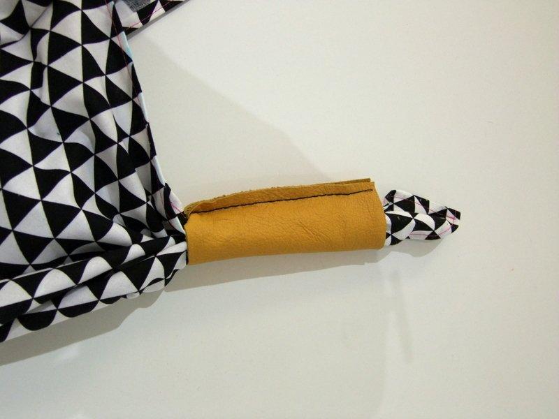Leder-Griff Origami-Tasche