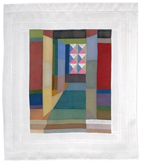 Elrid Metzkes: Kleines Zimmer, 1990 Nähbild Foto freundlicherweise von der Galerie Leo.Coppi zur Verfügung gestellt