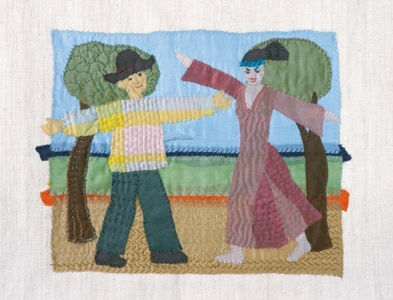 Elrid Metzkes: Willkommen, 2011 Nähbild Foto freundlicherweise von der Galerie Leo.Coppi zur Verfügung gestellt
