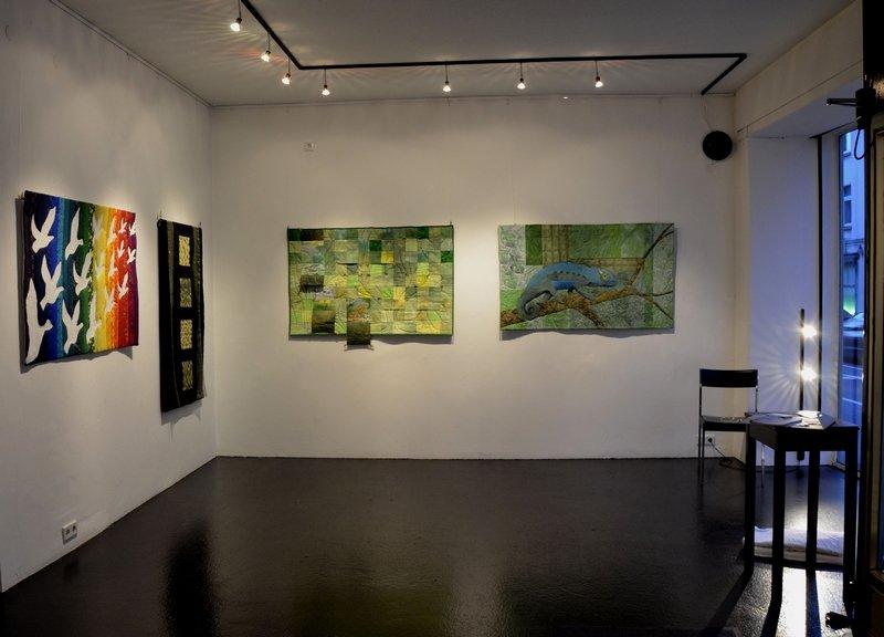 Einblick in die Ausstellung 'Kreativ ohne (Wa)Ende in der Schwarzbach-Galerie, Wuppertal