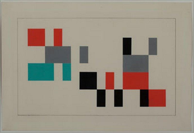 Sophie Taeuber-Arp Entwurf für die Innenausstattung des Cafés 'Aubette' in Strassburg, 1927 Gouache 60,3 x 40,1 cm Privatsammlung, Schweiz