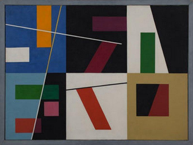 Sophie Taeuber-Arp Six Espaces Distinct, 1939 Öl auf Leinwand 64 x 87 cm Privatsammlung, Schweiz