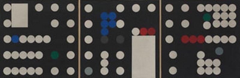 Sophie Taeuber-Arp Triptyque (I-III), 1933 Öl auf Leinwand je 50 x 50 x 3 cm Privatsammlung, Schweiz