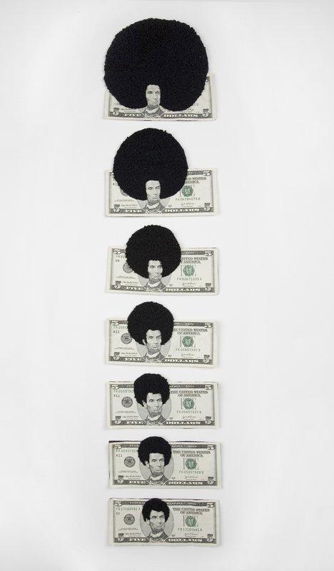 Sonya Clark: Afro Abe (progression), 2008 Foto vom Nationalmuseum Oslo zur Verfügung gestellt