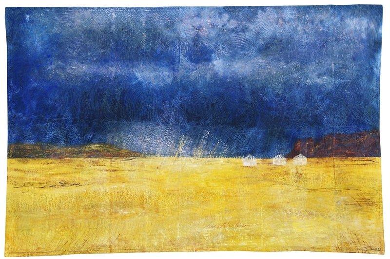 Isabelle Wiessler (D): Mongolei II, 2013, 136 x 211 cm  Bildnachweis: QUILTKUNST e.V.