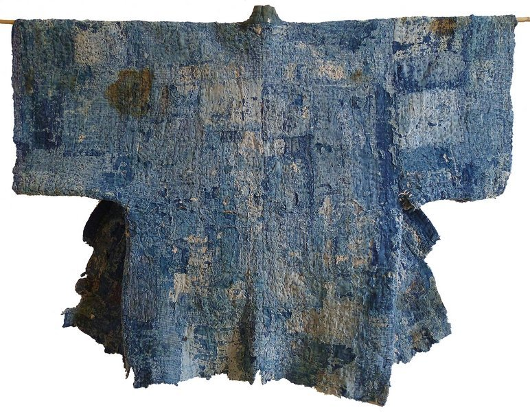 Arbeitsjacke (noragi) Spätes 19. Jahrhundert, Indigo gefärbte Baumwolle Sammlung Stephen Szczepanek