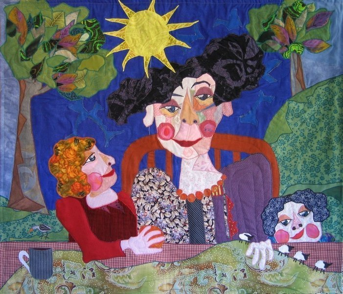 Bodil Gardner: Detail aus ihrer Ausstellung 'Bodils Patchwork Bilder' Foto: vom Veranstalter freundlicherweise zur Verfügung gestellt