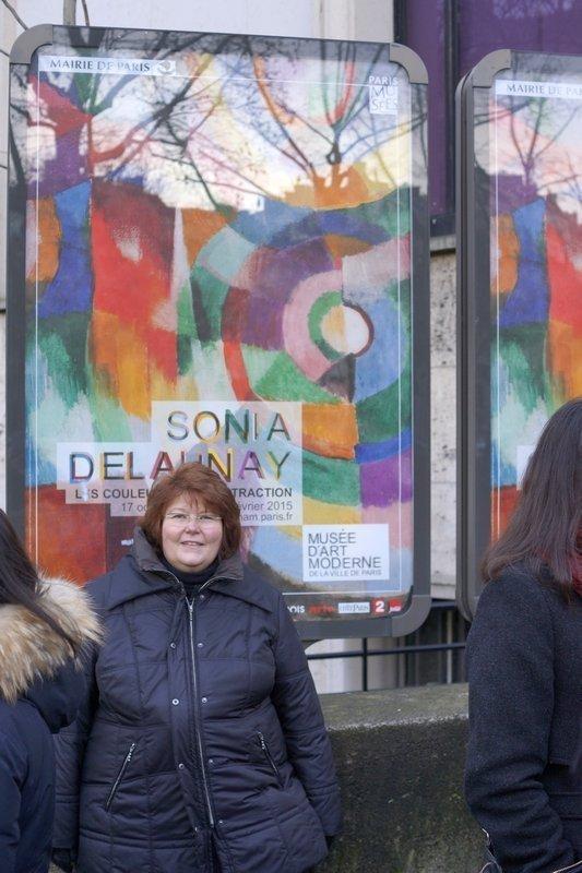 Ausstellung 'Sonia Delaunay' in Paris (Februar 2015) Foto: Dr. Wolfgang Heinz