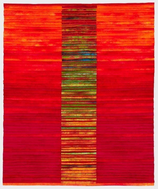 Heidi Förster: Rosenrot Foto: von Quilt Et Textilkunst zur Verfügung gestellt