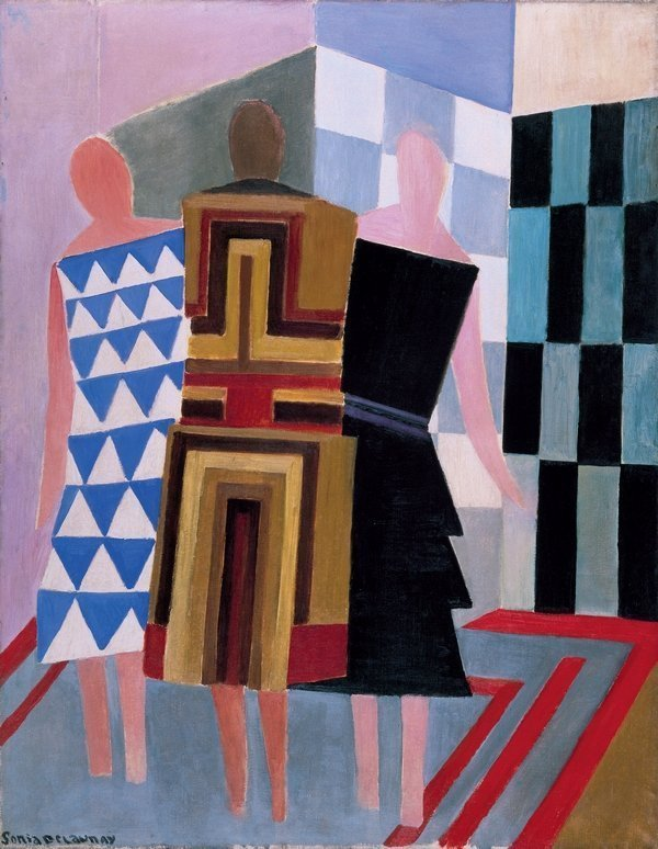 Sonia Delaunay: Simultaneous Dresses (The three women), 1925 Museo Thyssen-Bornemisza, Madrid  © Pracusa 2014083
