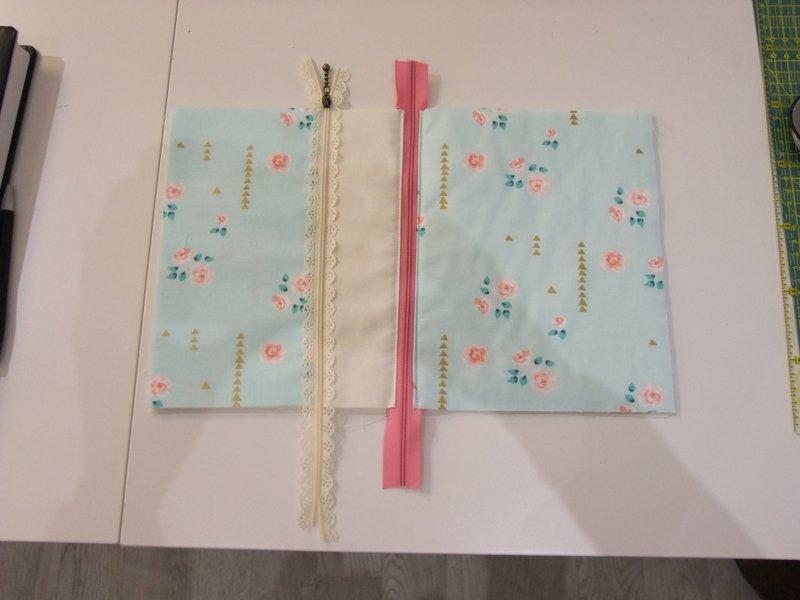 Tasche mit Endlos-Reißverschluss