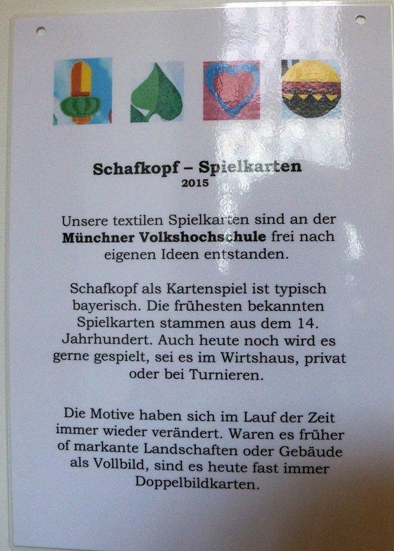Ausstellung 'Schafkopfquilts' - Gruppe um Irene Kahmann