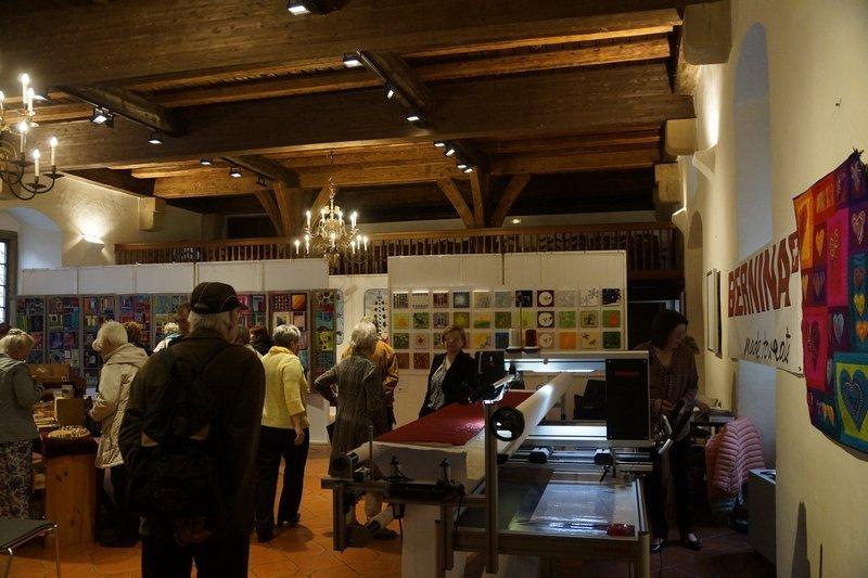 Ausstellungs- und Teil des Händlerbereichs in der 'Schranne'