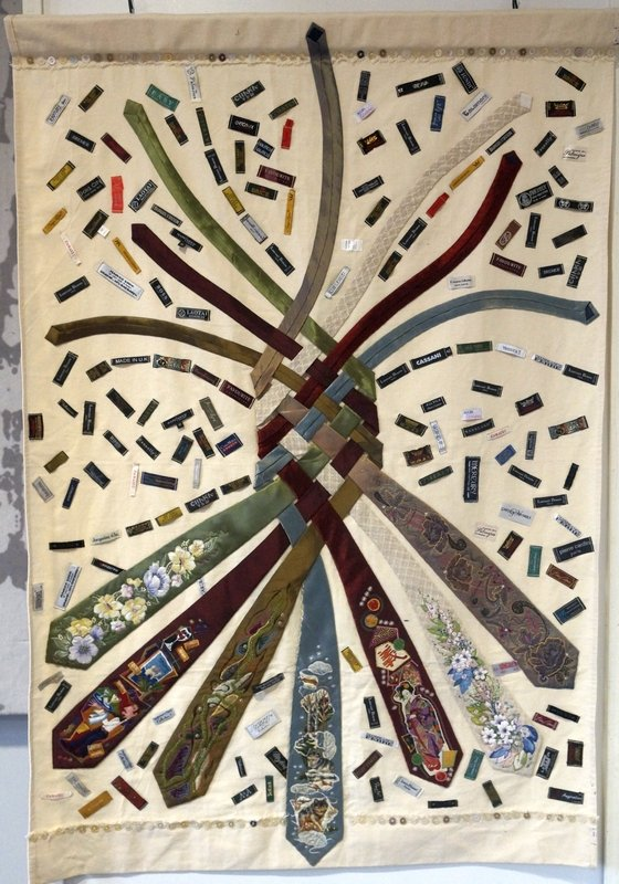 Vera Sherbakovas Krawattenquilt, 140 x 100 cm